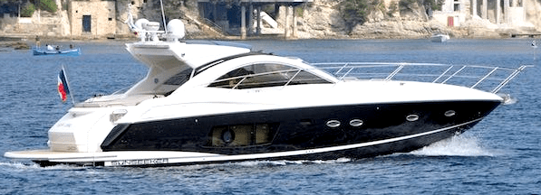 """Every cloud has a """"SILVER LINING"""": Sunseeker Portofino 48 sold by Sunseeker Cannes and Monaco"""