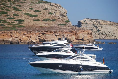 The Balearics is a hugely popular boating area for Sunseeker owners
