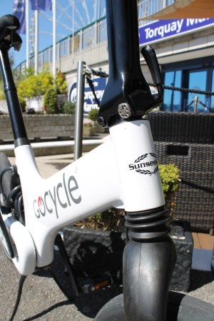 Visit the Sunseeker Torquay offices for a Gocycle test drive!