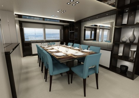 The 131 Yacht boasts technical innovation, more advanced features and contemporary layouts