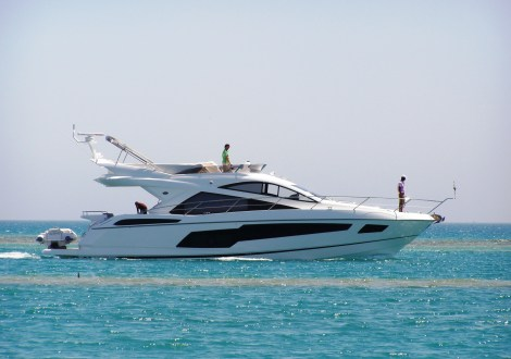"Sunseeker Egypt handover of new Sunseeker Manhattan 55 ""CHERRY"" in El Gouna"