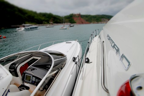 The next day after the Torquay Marina Summer Party, boat owners joined the Sunseeker Torquay Rendezvous on the water