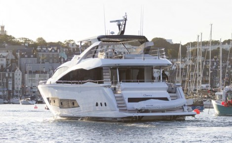 The new owners are delighted with 'CHERRY', their second Sunseeker yacht and plan to spend considerable time aboard during the coming months