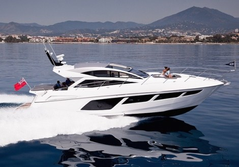 On show for the first time in Spanish waters - the Sunseeker Predator 57