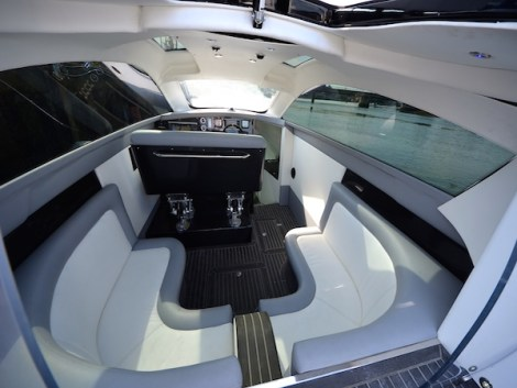 Completely custom interior includes Garmin navigation system, Herring 6 blade racing props, carbon and suede steering wheel, suspension seating, ceramic coated exhausts, air scoop on roof, ultra-leather interior upholstery and much more