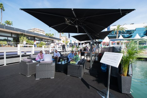 The stand at this years Cannes Yachting Festival was alive with activity