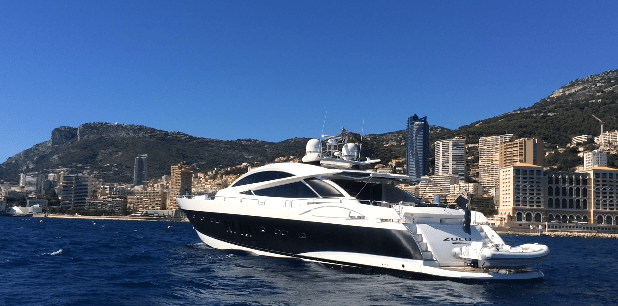 Most iconic Sunseeker ZULU at anchor in Monaco