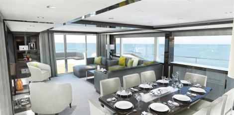 Striking lines and innovative layout also showcase the fresh design direction that Sunseeker's next generation of larger models will take