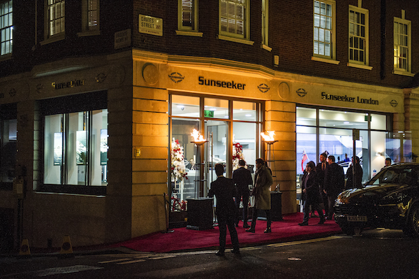 Sunseeker London hosted a successful Mayfair Luxury Party, W1 for 200 guests