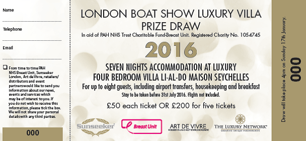 Sunseeker Charity Day: Thursday 14th January at London Boat Show