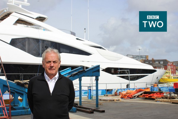 The Sunseeker BBC documentary 'Britain's Biggest Superyachts: Chasing Perfection' featuring Sunseeker