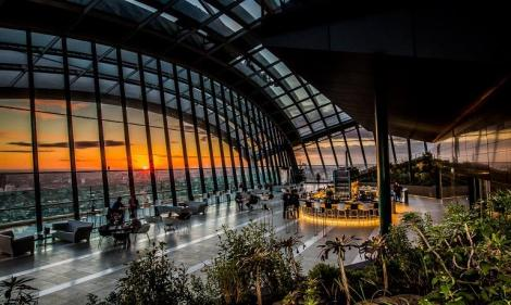 Sky Garden cafe by day, cocktail bar by night