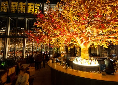Experience the 38th floor Heron Tower views from the terrace at Sushi Samba
