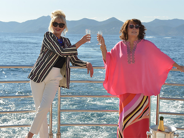 The Sunseeker 40M Yacht 'THUMPER' starring in Absolutely Fabulous The Movie