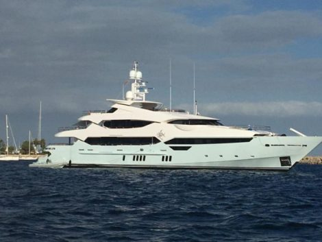 The impressive Sunseeker 115 Yacht 'BLUSH'