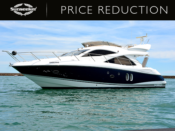 PRICE REDUCTION: Steve Handy of Sunseeker Portugal announces a price reduction of the Sunseeker Manhattan 50 'IMOLYAS'