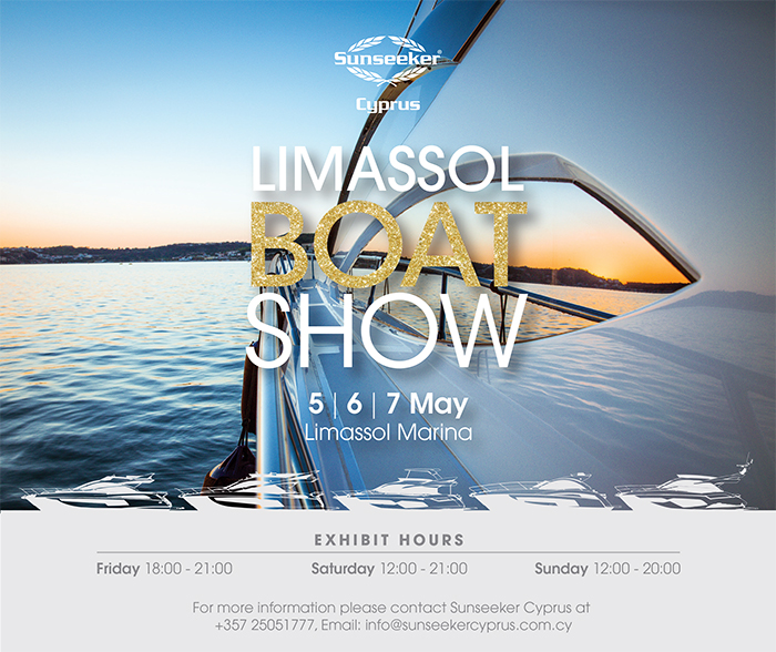 BOAT SHOW: Sunseeker Cyprus are looking forward to the Limassol Boat Show this weekend!