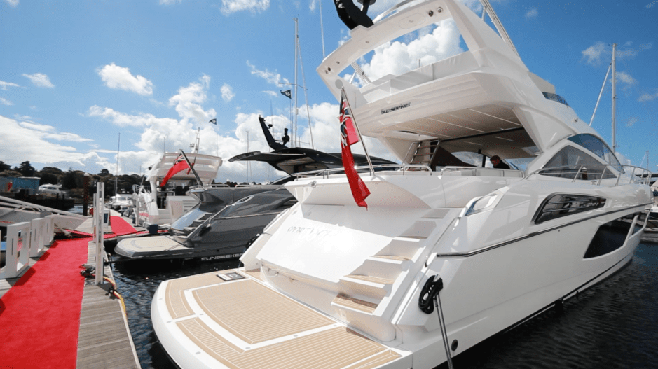 BOAT SHOW: Sunseeker London Group display an amazing array of Sunseekers at the British Motor Yacht Show
