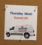 Ronald McDonald House Thursday Meal Served by Sunset Air and Home Services