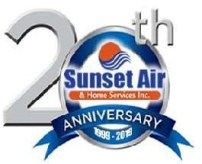 20th anniversary logo - Summer Energy Saving Tips - Fort Myers - Sunset Air and Home Services