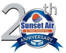 20th anniversary logo - Fort Myers - Sunset Air and Home Services
