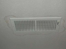 stain around vent - Clogged Drain Line - Fort Myers - Sunset Air & Home Services