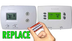 Replacing thermostat battery - Fort Myers - Sunset Air & Home Services