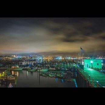 Nighttime at marina