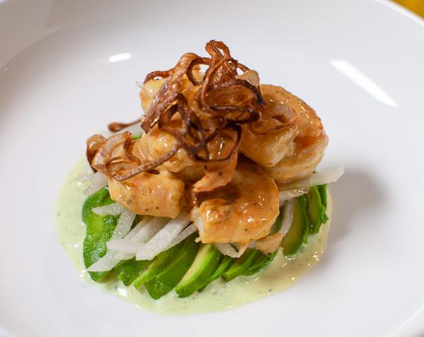 Creole Shrimp Remoulade with Jicama and Avocado - a uniquely delicious seafood appetizer