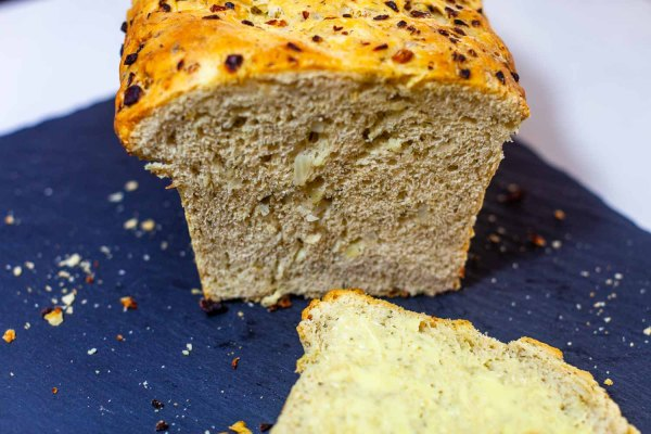 Cross-section of fresh baked Swedish dill bread
