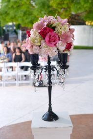 Flowers in Candleholder