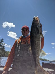 Dave Schueck with a nice walleye