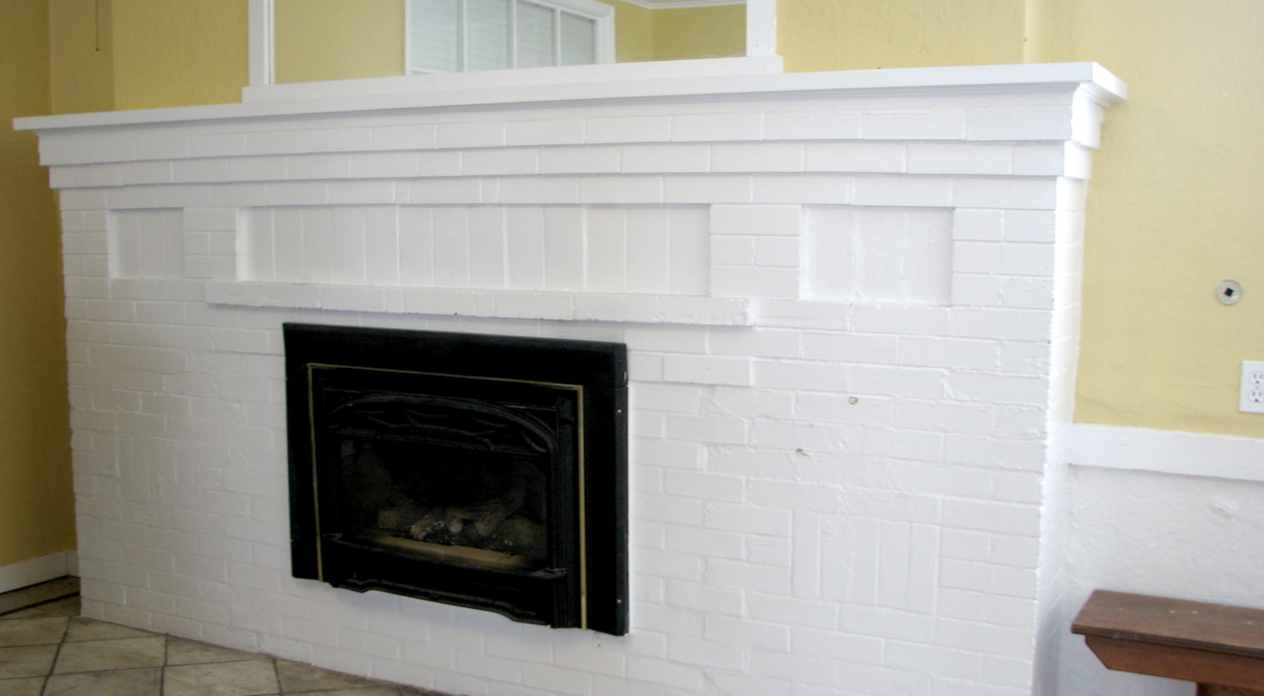 Fireplace in Lower Hall