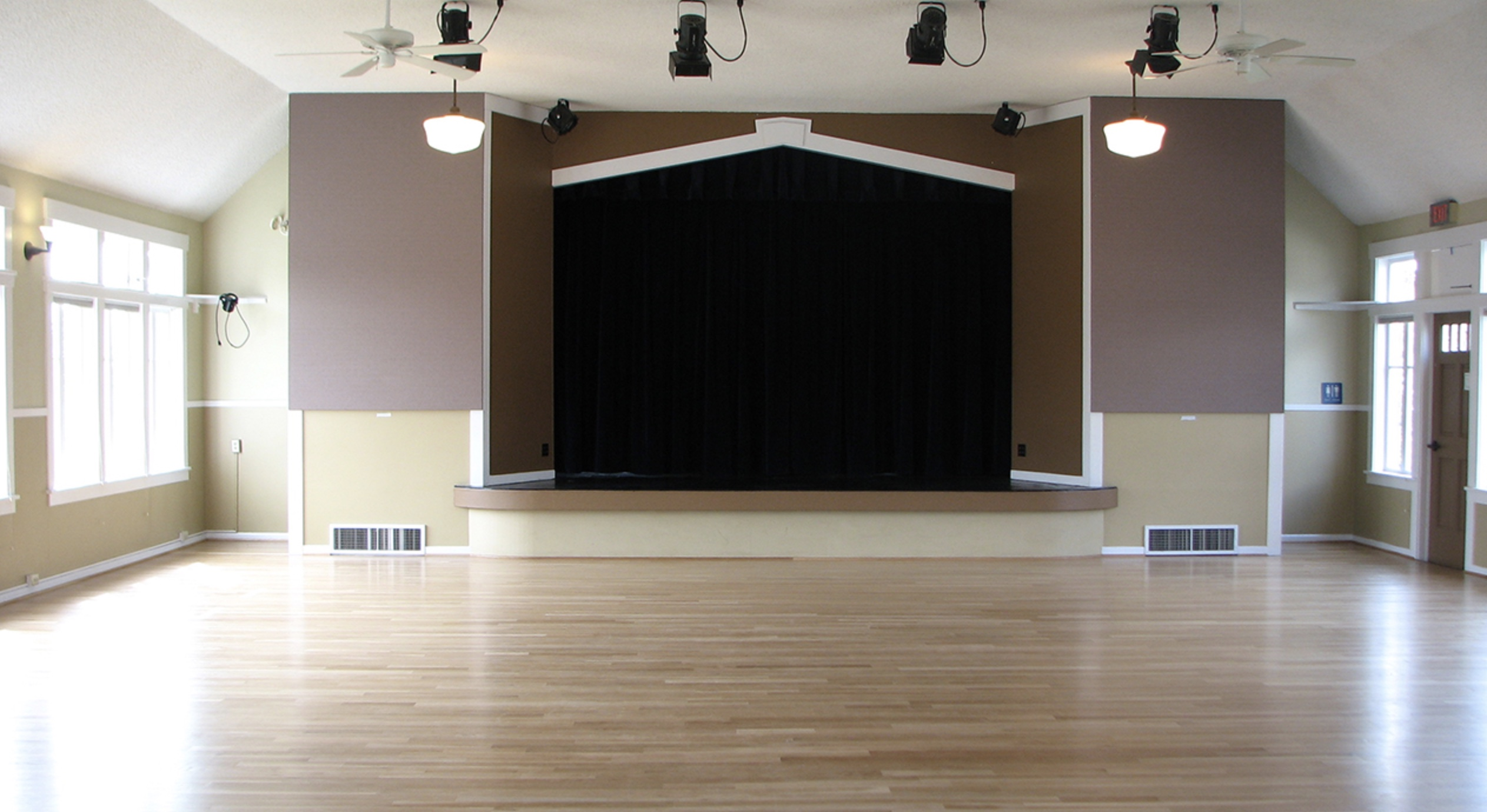Raised stage in Upper Hall