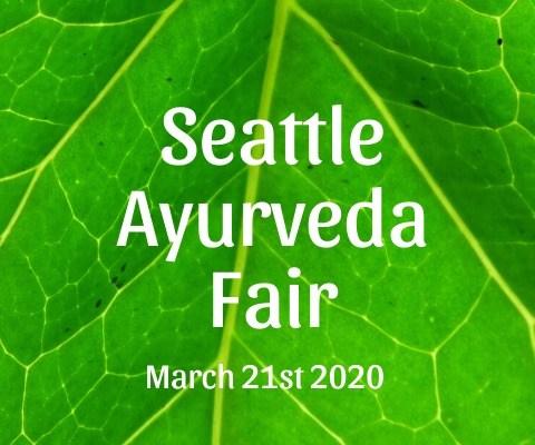 Ayurveda Fair POSTPONED to 10/17/20