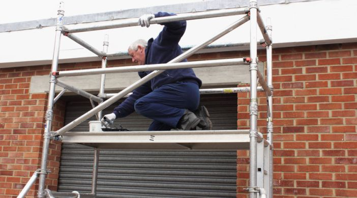 Rent scaffolding to complete the job in half the time