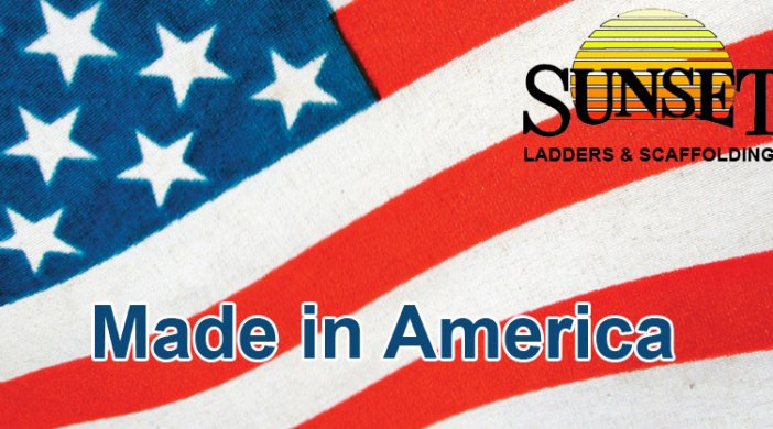 sunset ladders are the ONLY american made ladders