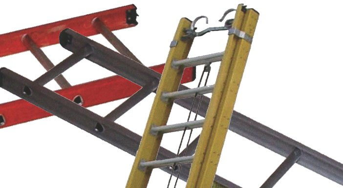 how to put multiple extension ladders together
