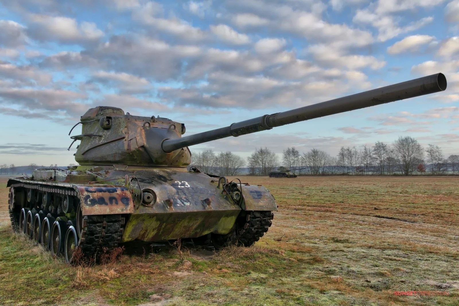 The abandoned M47 Patton