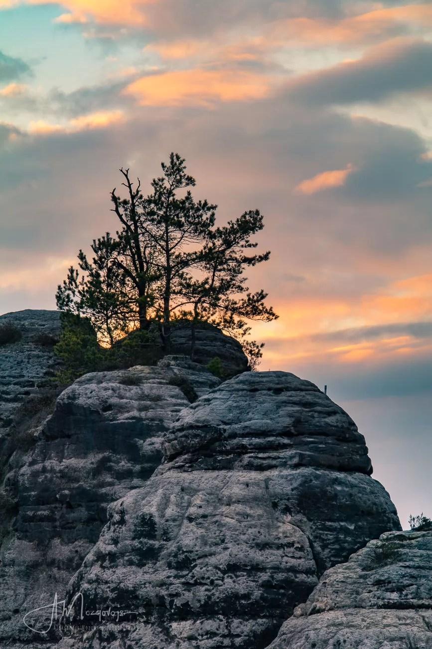 Sunset over Saxon Switzerland