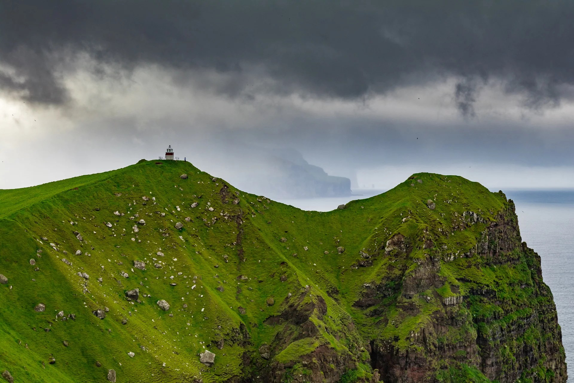 Kallur Lighthouse is one the most photogenic lighthouses on entire Faroes