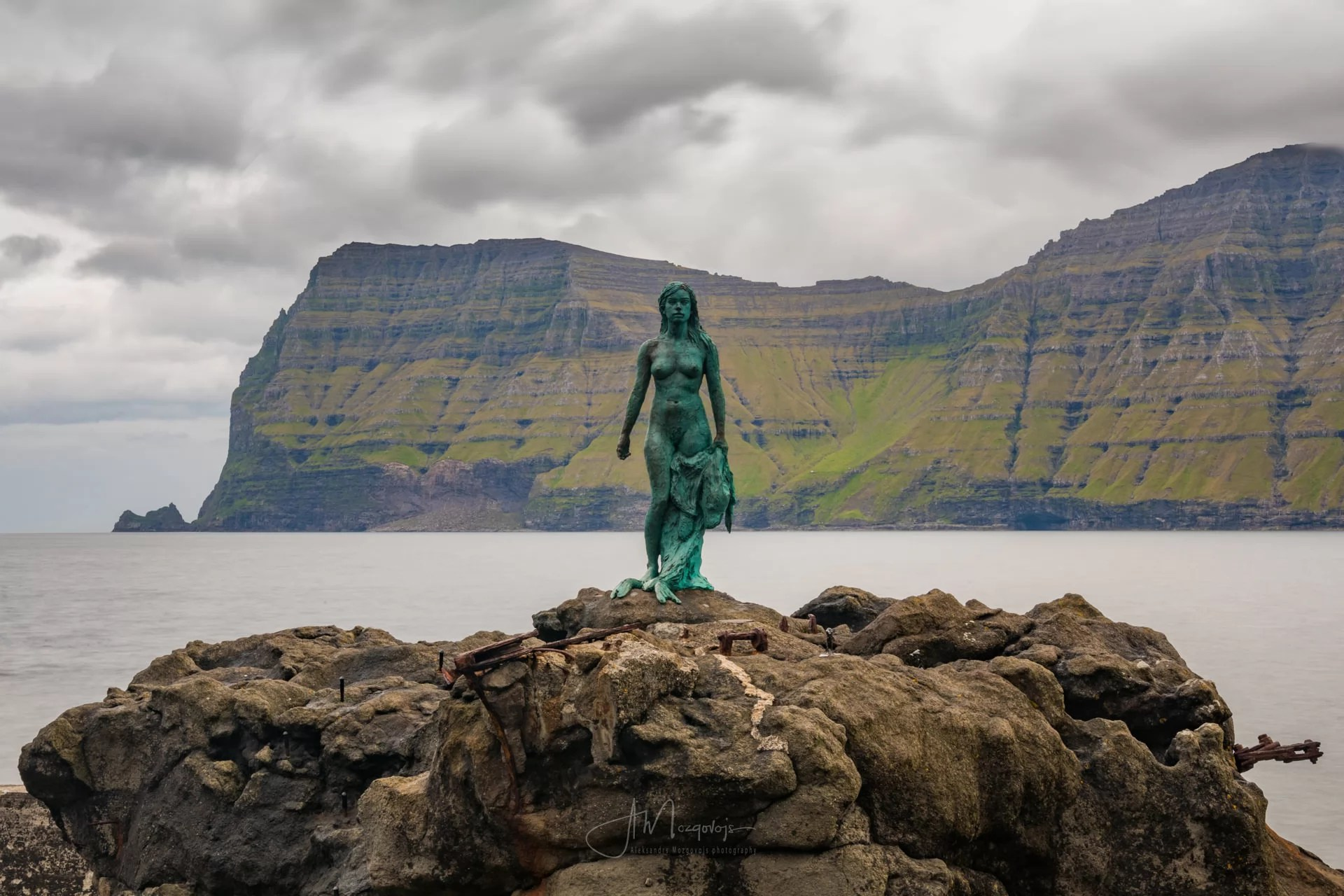 Kópakonan, the statue of the Seal Woman in Mikladalur, Kalsoy
