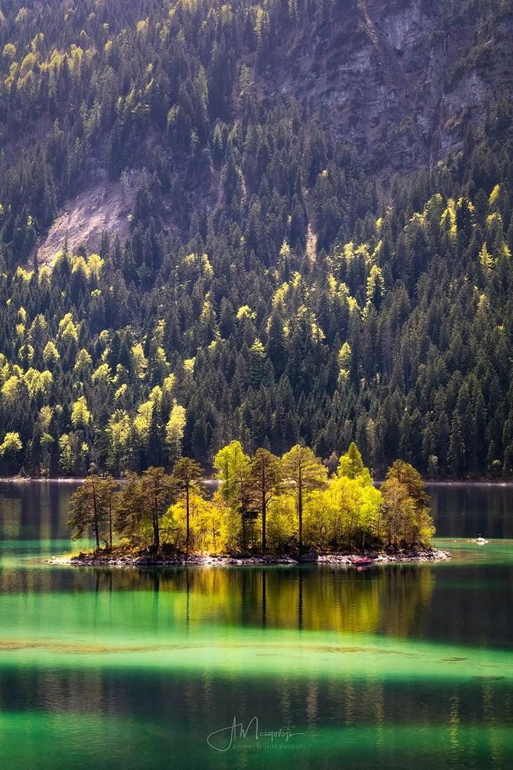 Summer Days at lake Eibsee, Bavaria, Germany
