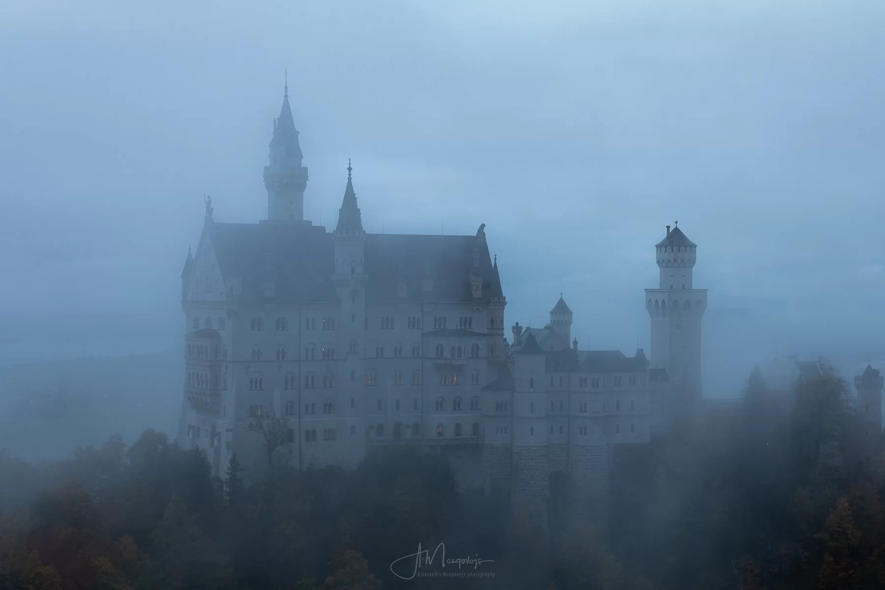 Castle Neuschwanstein in Fog