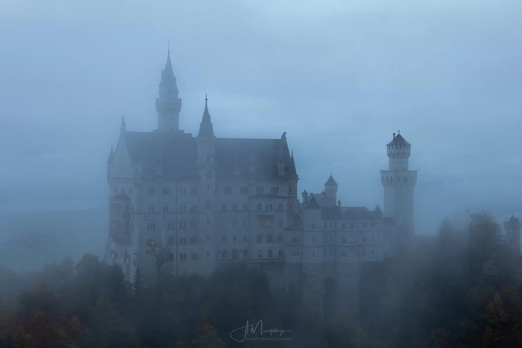 Castle Neuschwanstein in Fog