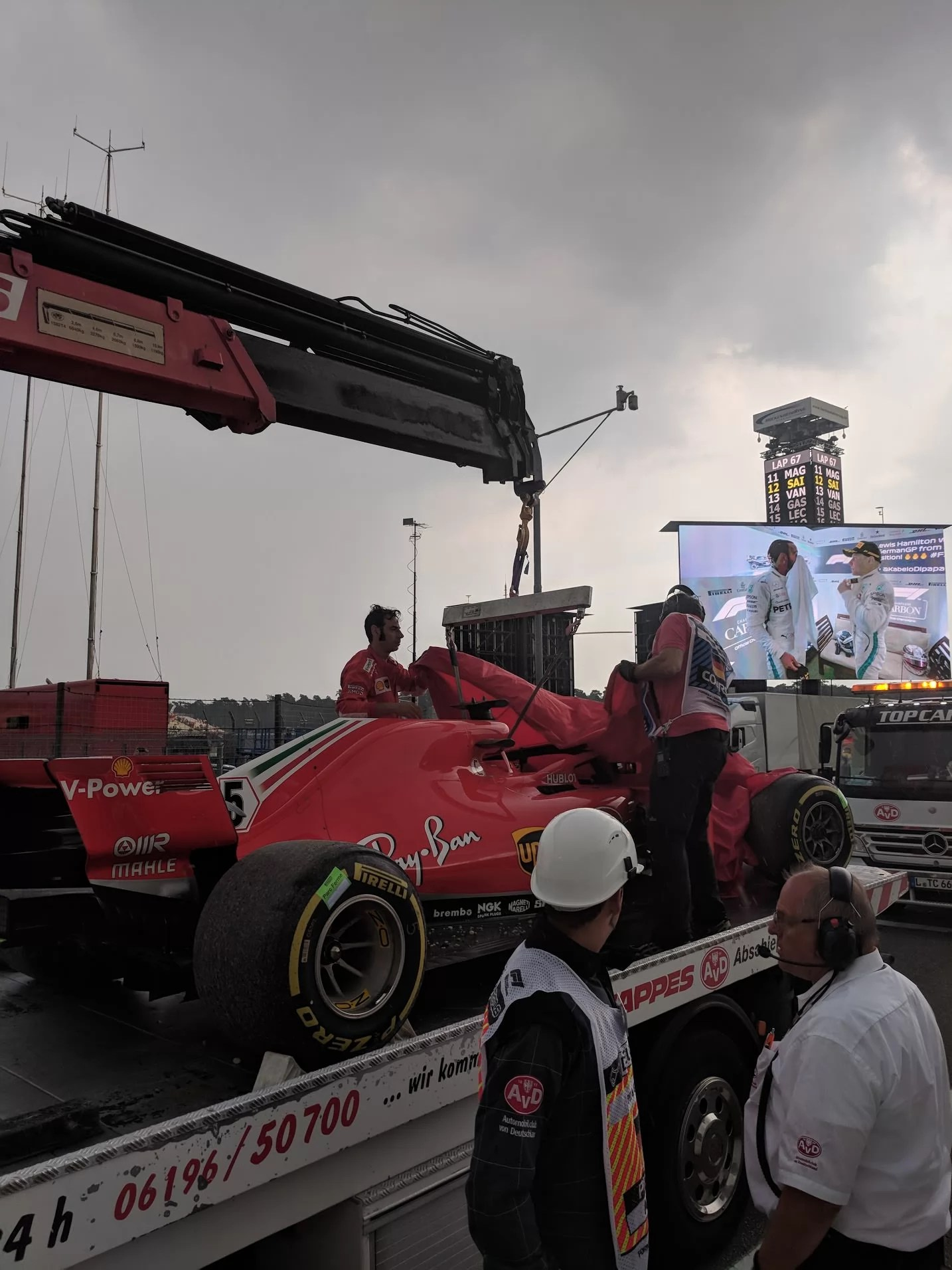 Vettel's Crashed Car