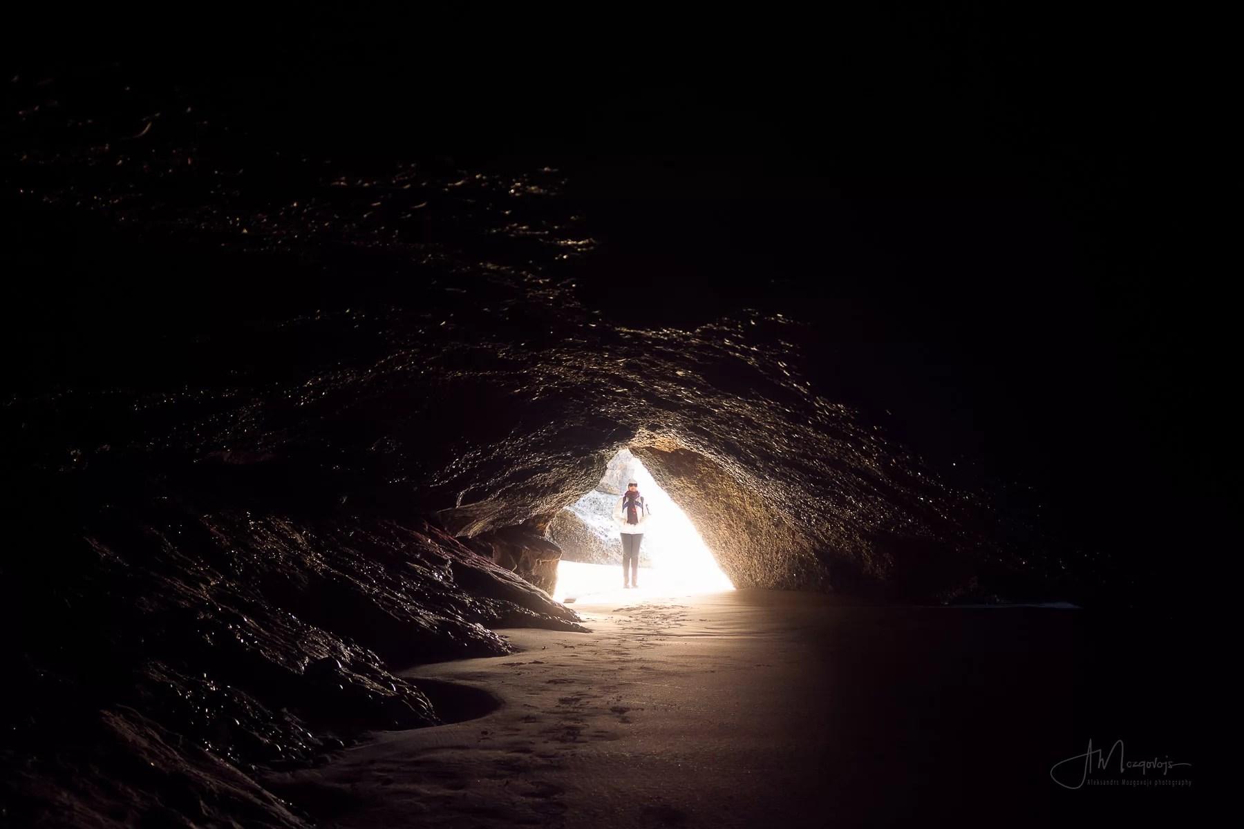 Wharariki Beach cave