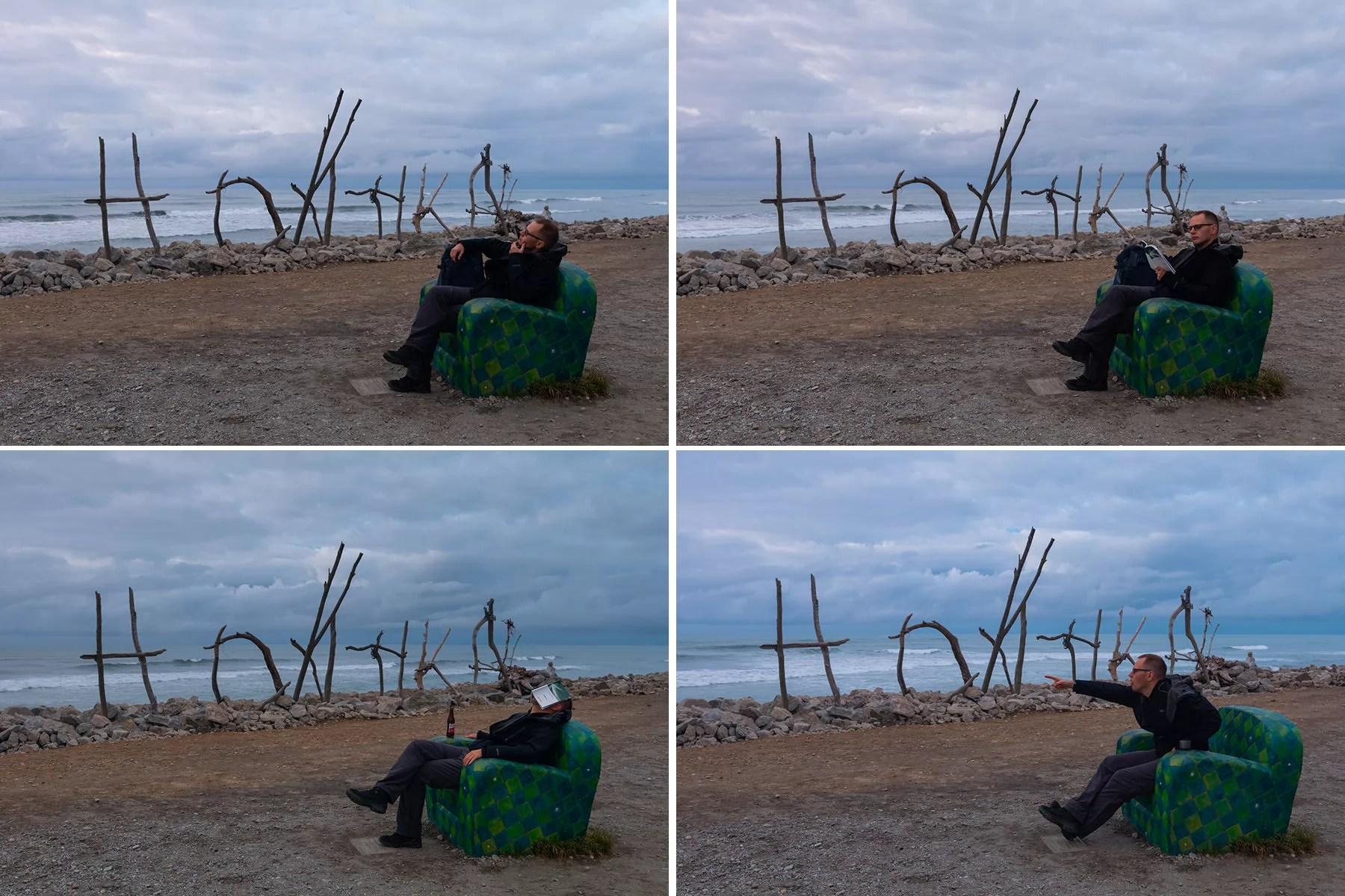 Having fun on Hokitika Beach