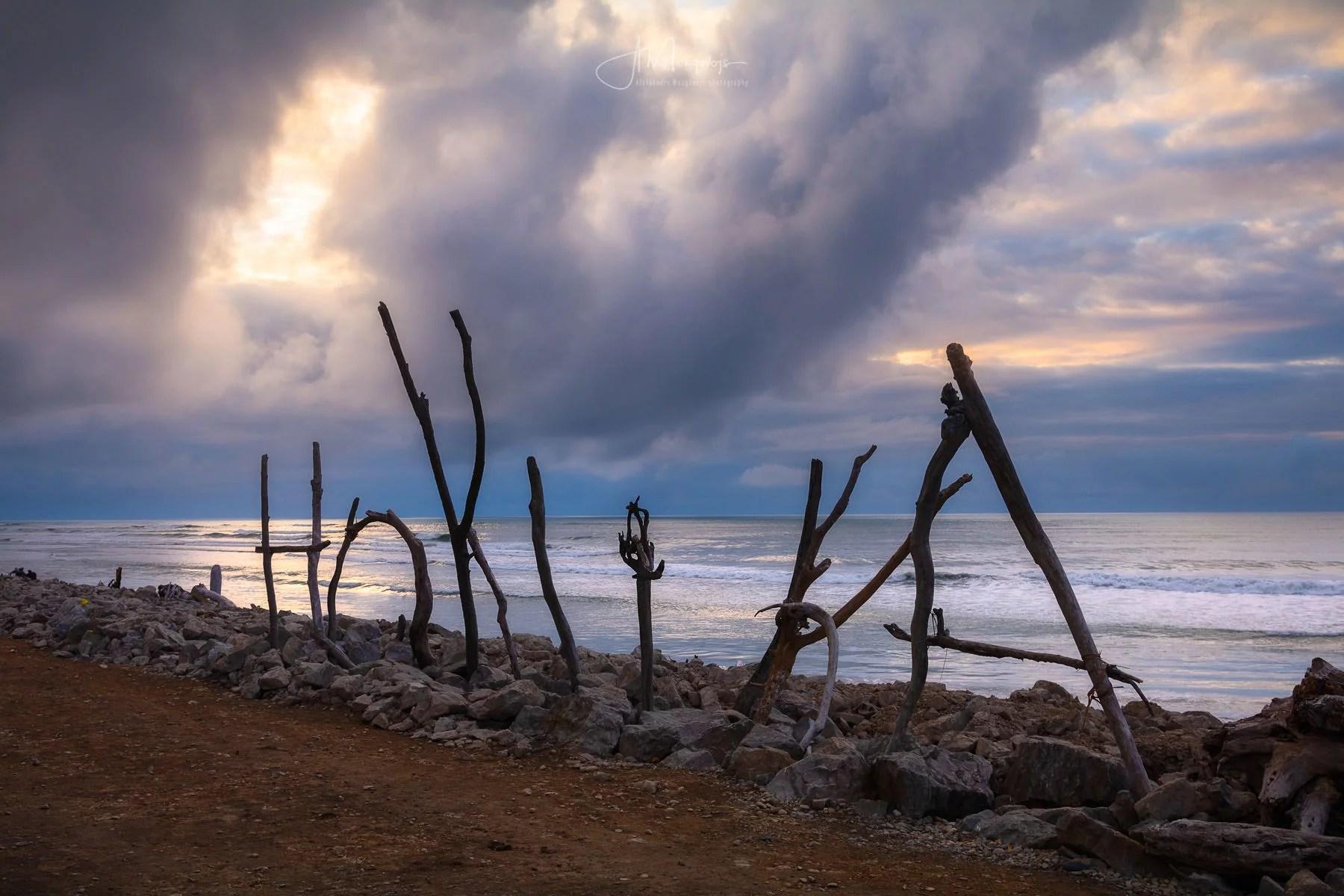 Sunset on Hokitika Beach