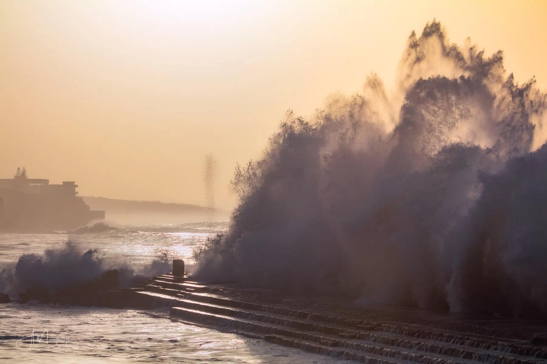 Sunset wave in Bajamar, Tenerife